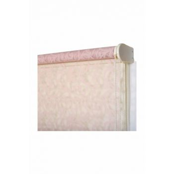 260x260 Double Mechanism Powder Pink Shawl Pattern Tulle Roller Blinds A1003870