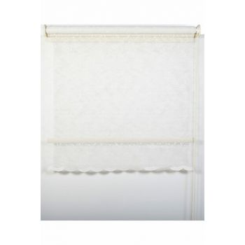 260x200 Double Mechanism Drop Pattern Silvery Tulle Roller Blinds A1003578