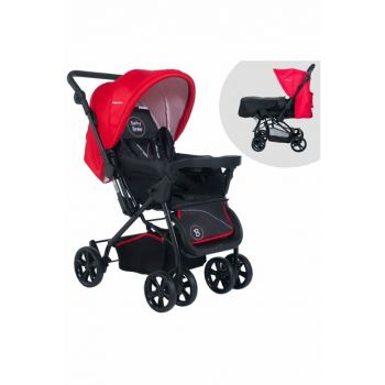 Baby Home Bh-755 Titanic Baby Carriage with Bidirectional Tray Black - Red / 007.023.021