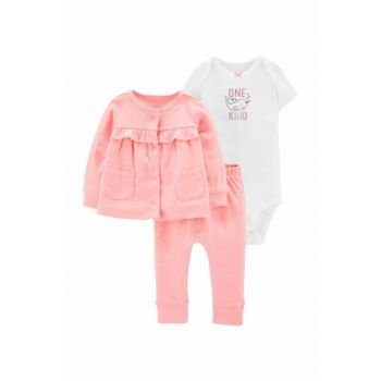 Pink Layette Baby Girl Set of 3 16633310