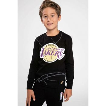 Black Lakers Logo Printed Licensed T-Shirt K1881A6.18AU.BK27