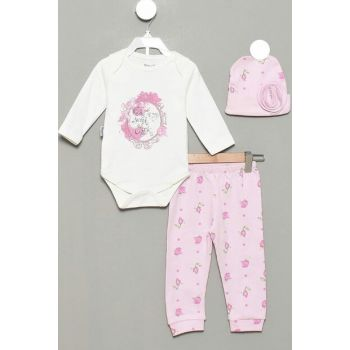 6-9 Months Baby Girl with Rose Point Luxury Suit 13792