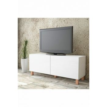 Aqua Tv Unit High Gloss 120cm 2 Cover White AU2-W1K-WW 1286507