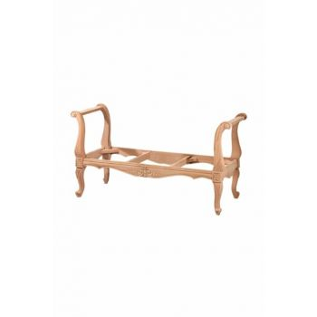 7145 Carved U Seat Unpolished Raw Wood