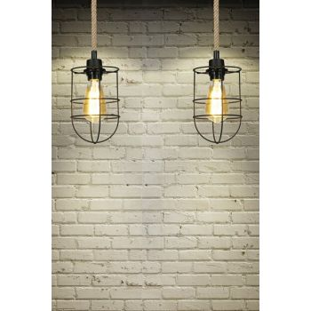 Rope Pendant Lamp - With Dome Cage ASZ.0559