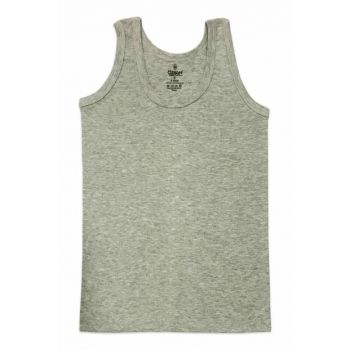 Boys' White Ribana Tank Top 0801