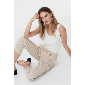 Women's Beige Trousers IS1190003083