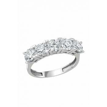 Five Stone Silver Ring BTY6000