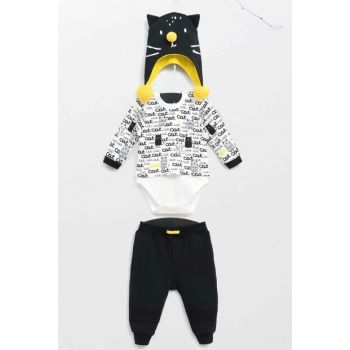 Black Baby Boy Hat Pants Badi 3 Piece Suit WG5330