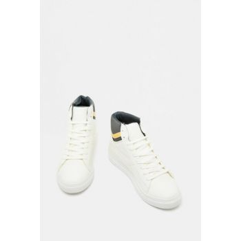 Men's White Lace-up Sport Shoes 9KAM22003AA