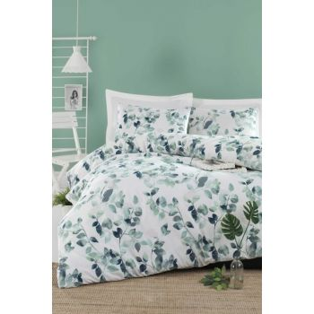 100% Natural Cotton Double Duvet Cover Set Sabine Green Ep-019550