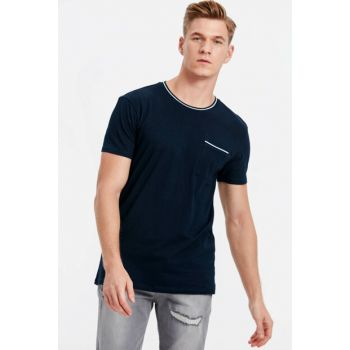 Men's Navy Blue T-Shirt 8SN074Z8