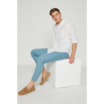 Men's Blue Trousers 8YAM42104NW