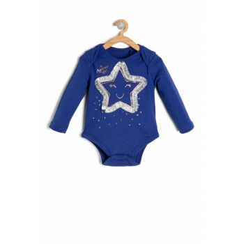 Navy Blue Baby Girl Printed Layette 9KNG11114ZK
