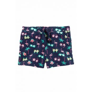 Navy Blue Baby Girl Shorts 236G948