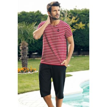 Men's Red Capri Suit with Stripes MEP24226-1 TMEP24226
