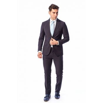 Men's Navy Blue Business Suit - Du2999201001 DU2999201001-x