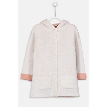 Girl Child Beige Melange D4N Cardigan 9W4047Z4