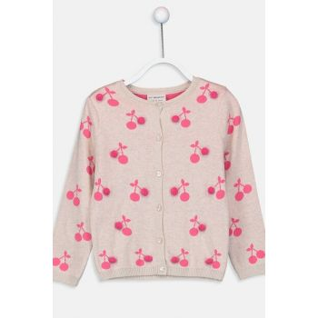 Girl Child Beige Melange D4N Cardigan 9W1857Z4