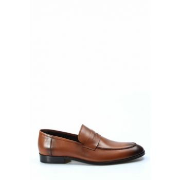 Genuine Leather Taba Men's Classic Shoes 1849970