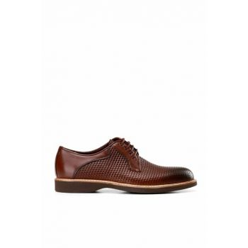 Genuine Leather Coffee Men Classic Shoes 02AYH138490A480