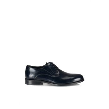 Genuine Leather Navy Blue Men Shoes 02AYH107540A680