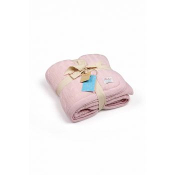 Knitted Baby blanket 80x110 cm BB16005PINK