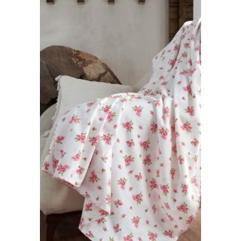 100% Cotton Baby Blanket with Rose 153-99-000005
