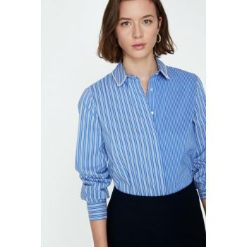 Women's Blue Shirt 9KAK68827PW