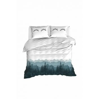 100% Natural Cotton Double Duvet Cover Set Eyelash White Ep-020237