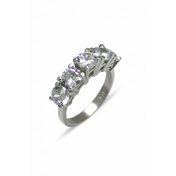 Women's White Stone Five Stone Ring 2020045
