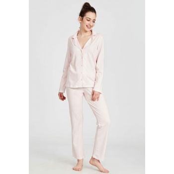 Women's Pink Printed Lt4 Pajamas Suit 9W1778Z8