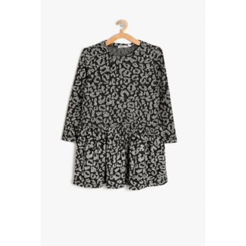 Black Girl Child Leopard Print Dress 9KKG87656AK