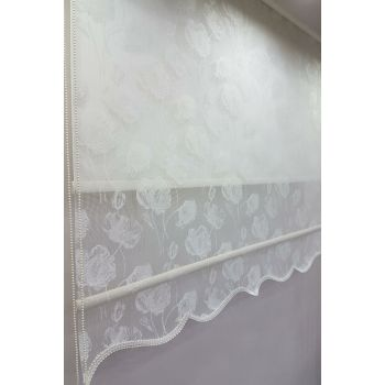 150X200 Double Mechanism Tulle Curtain and Roller Blinds MT1093 8605480887994