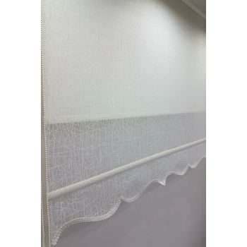 90X200 Double Mechanism Tulle Curtain and Roller Blinds MT1084 8605480843386