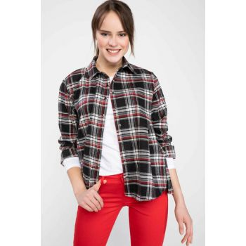 Women's Plaid Shirt I9768AZ.18AU.BK27