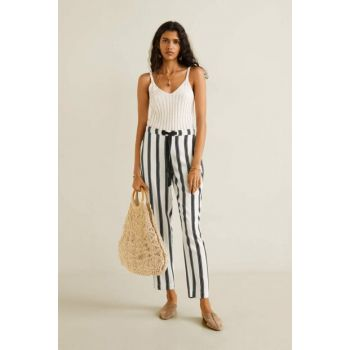 Women's Solid White Straight Cut Long Pants 53080520