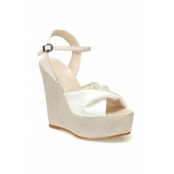White Women's Wedge Heeled Shoes 000000000100450797