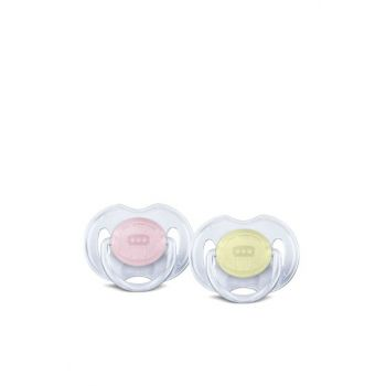 Yellow-Pink Soother Classic 2-way 0-6 87101035432991