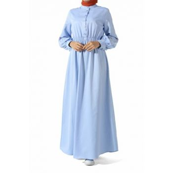 Women's Blue Embroidered Dress 2310