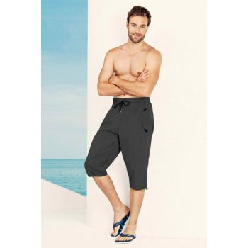 Men's Gray Hijab Swimwear Brand Long Sea Shorts H-2481ENGING