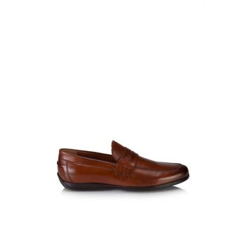 Men's Genuine Leather Taba Shoes 02AYH118780A370