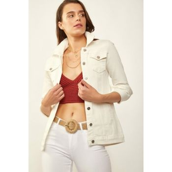 Women's White Denim Jacket 0616BGD19_005