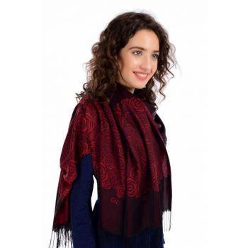 Black Burgundy Shawl 2BRL002-190X70CM