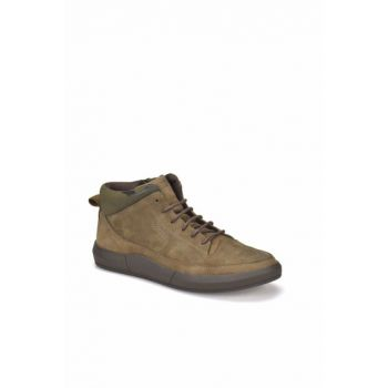 Genuine Leather Sand Color Camouflage Men Boots 000000000100337613