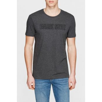 Men's Dark Side Printed Gray T-Shirt 065364-28452