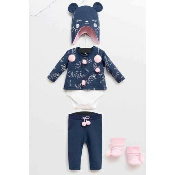 Wogi Baby Girl Bottom Top Badi Set of 4 3-18 Months 5359 WG5359