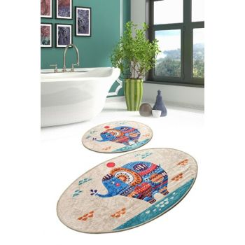 Etnic Djt Set of 2 Li Bath Mat, Doormat 8682125932941