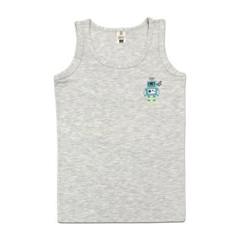 Boys' Gray Printed Tank Top 31426