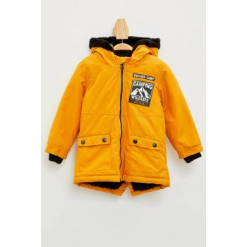 Yellow Baby Boy Hooded Coat K9741A2.19AU.YL37